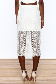 Endless Rose White Lace Skirt - Alternate List Image