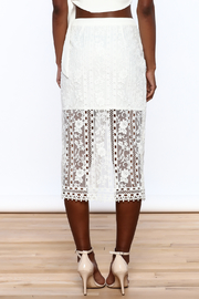 Endless Rose White Lace Skirt - Back cropped