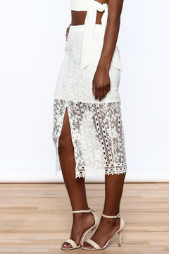 Endless Rose White Lace Skirt - Product List Image