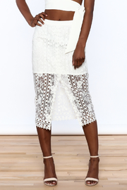 Endless Rose White Lace Skirt - Side cropped