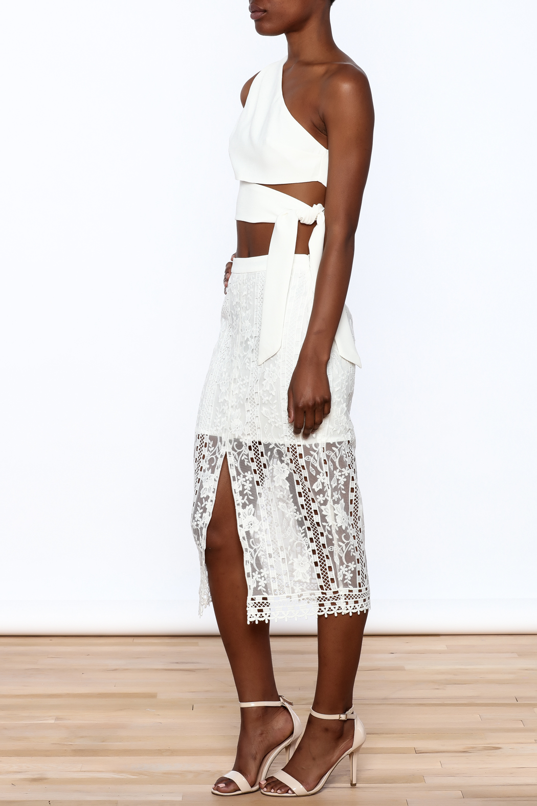 Endless Rose White Lace Skirt - Front Full Image