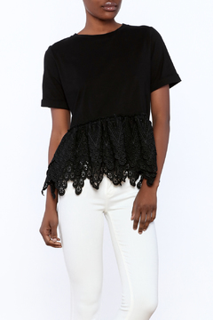 Shoptiques Product: Lace Peplum Top