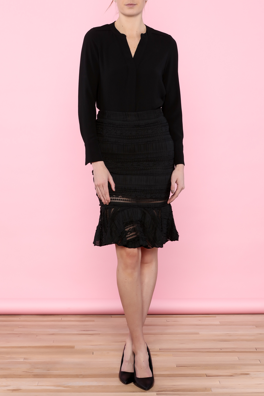 Endless Rose Lace Trumpet Skirt - Front Full Image