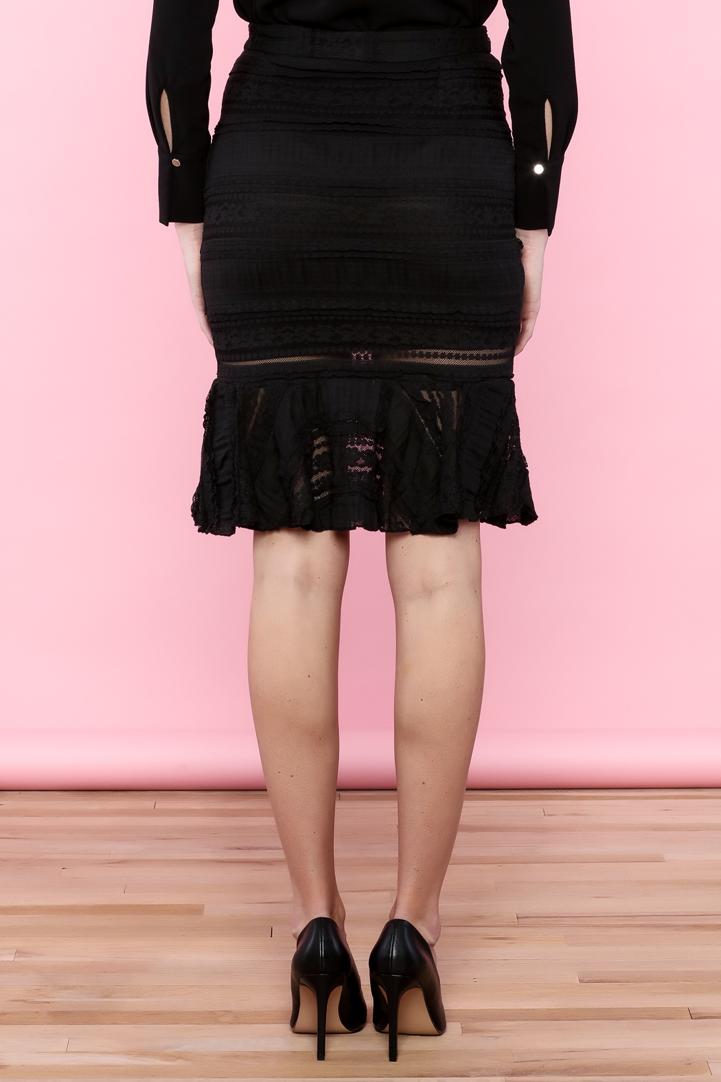 Endless Rose Lace Trumpet Skirt - Back Cropped Image
