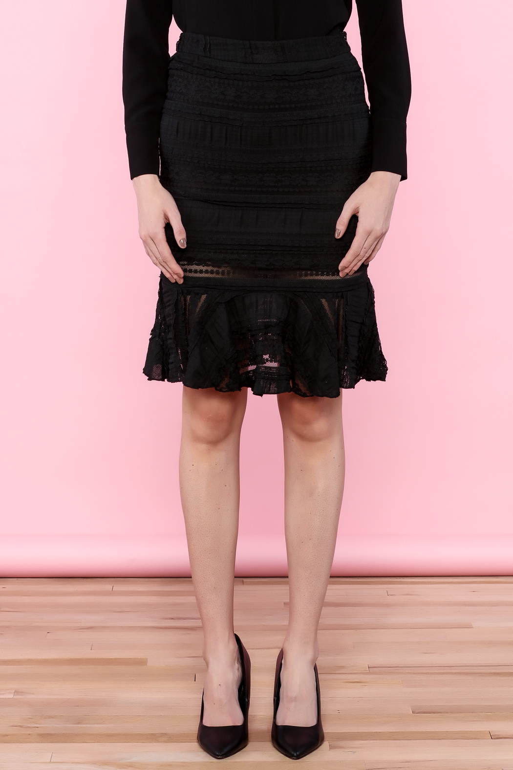 Endless Rose Lace Trumpet Skirt - Side Cropped Image