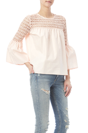 Endless Rose Peach Lace Top - Product Mini Image