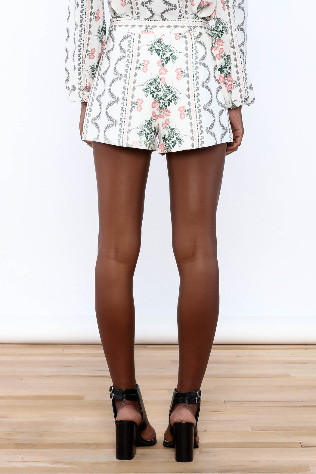 Endless Rose Richardson Shorts - Back Cropped Image