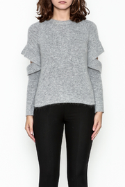Endless Rose Ruffle Sleeve Sweater - Front full body