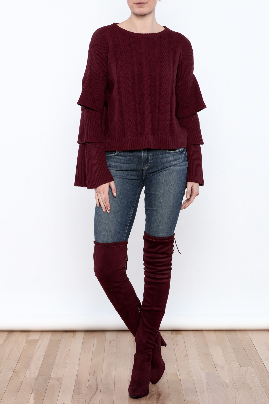 6bccbae2b7c Endless Rose Ruffled Sleeve Sweater from Michigan by Lifted Boutique ...