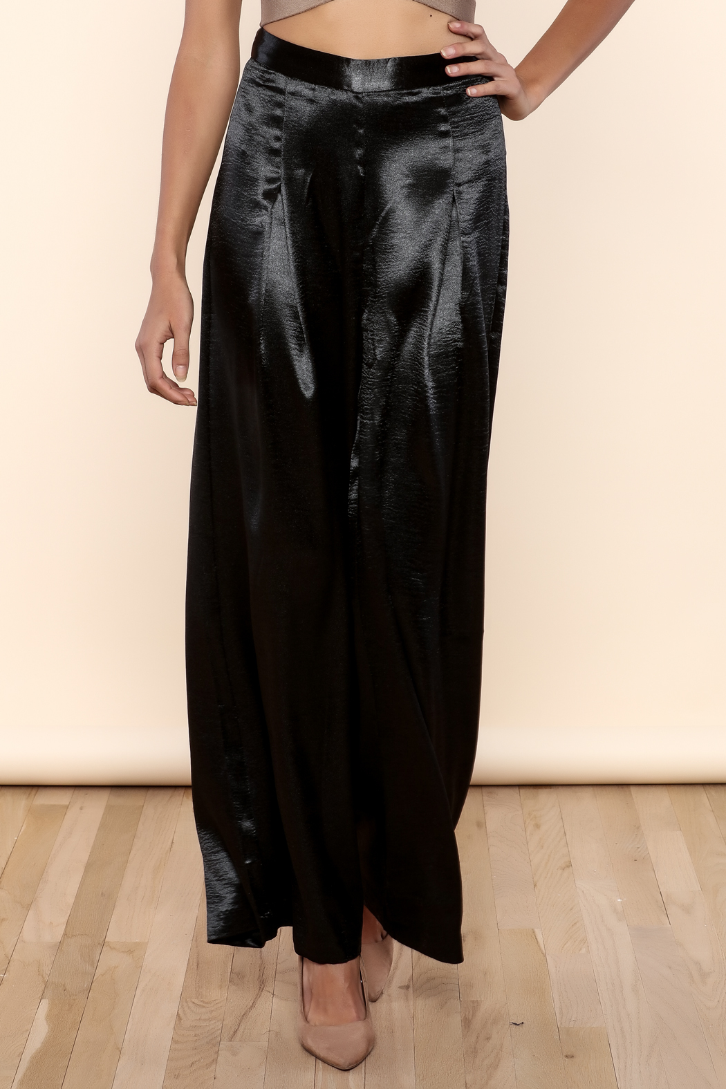 Endless Rose Satin Flowing Trousers - Main Image