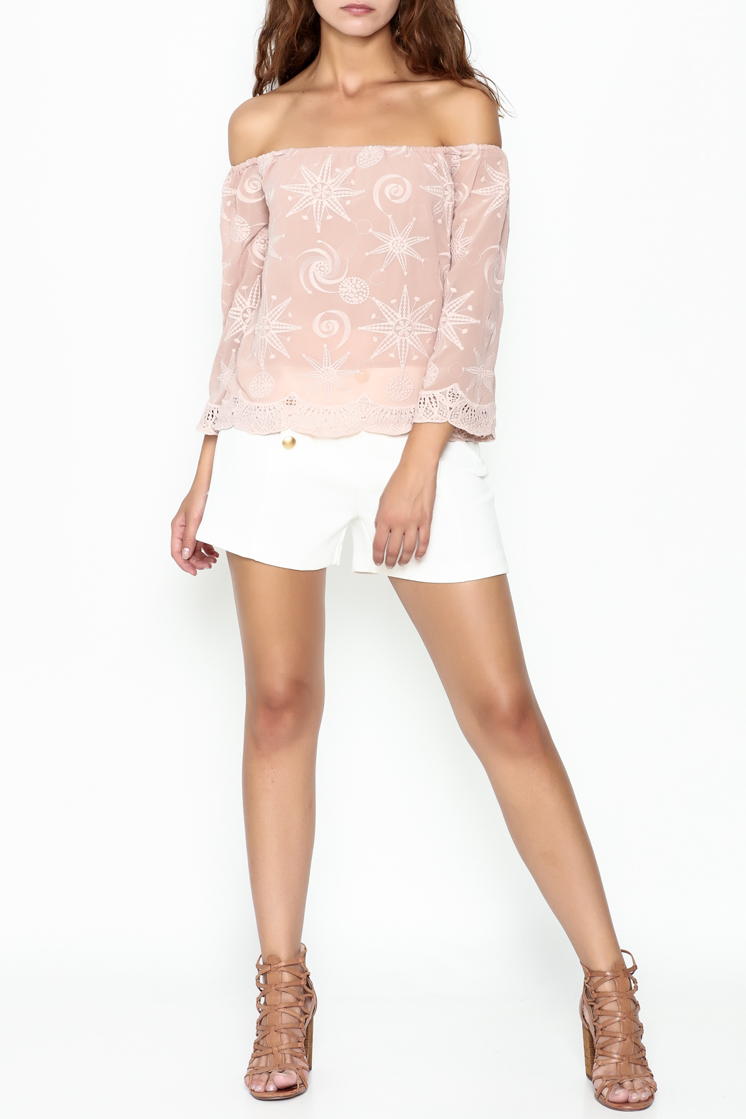 Endless Rose Scallop Trim Blouse - Side Cropped Image