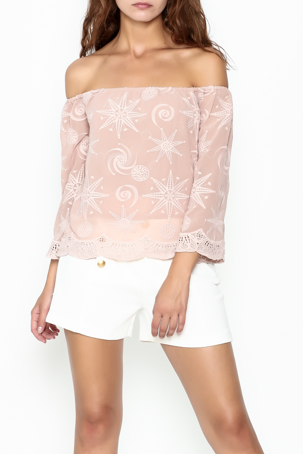 Endless Rose Scallop Trim Blouse - Main Image