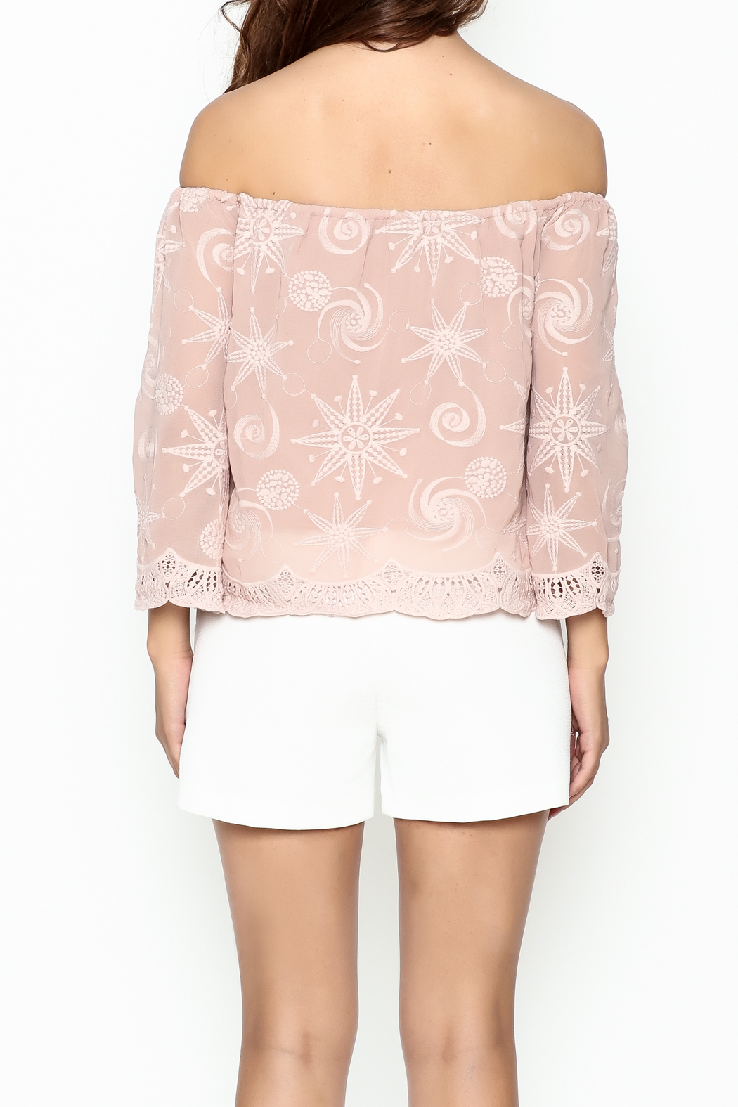 Endless Rose Scallop Trim Blouse - Back Cropped Image