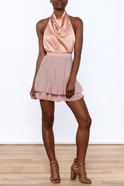 Endless Rose Old Rose Pleated Skirt - Front full body
