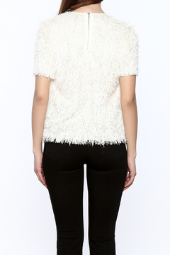 Shoptiques Product: Short Sleeve Fringe Top