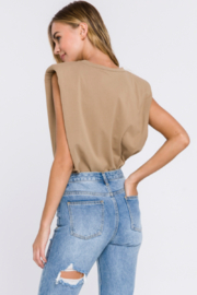 Endless Rose Shoulder Pad Tee - Front full body