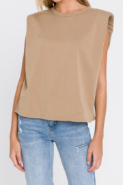 Endless Rose Shoulder Pad Tee - Front cropped