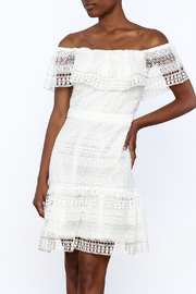 Endless Rose White Crochet Lace Dress - Product Mini Image