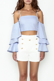 Endless Rose Tiered Ruffle Sleeve Crop - Front full body