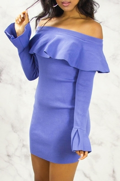 Shoptiques Product: Bardot Ruffle Bodycon Dress