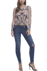 Endless Rose Beaded Mesh Top - Product Mini Image