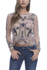 Endless Rose Beaded Mesh Top - Side cropped