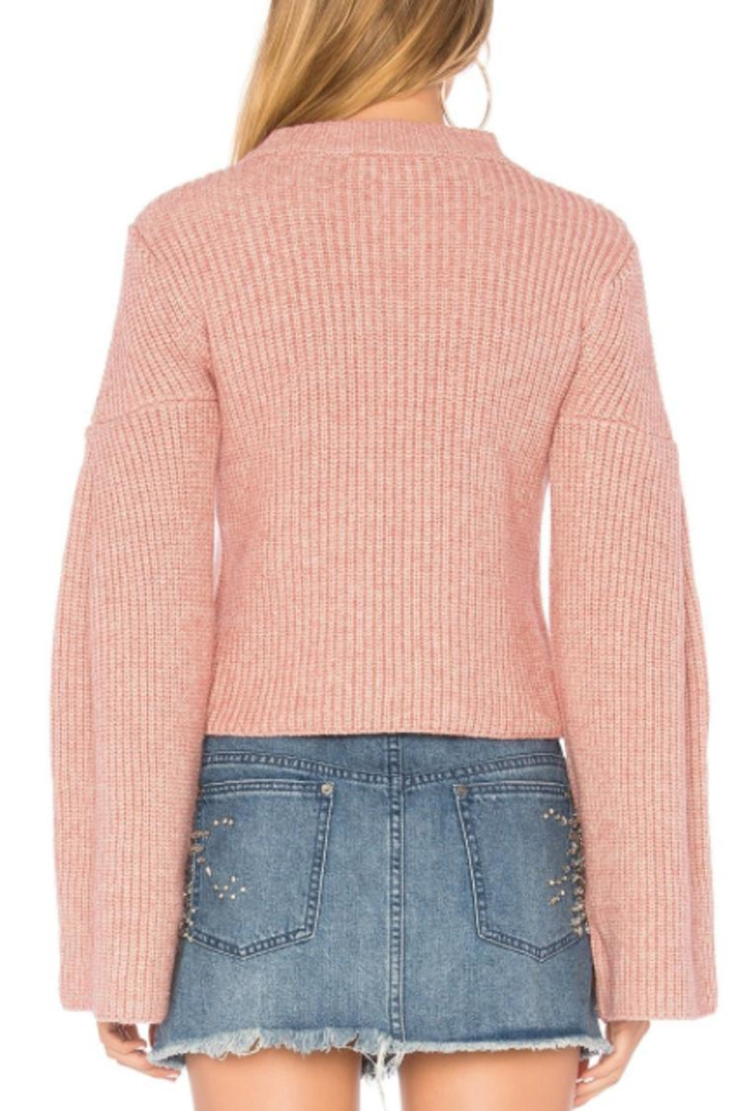 Endless Rose Bell Sleeve Sweater - Back Cropped Image