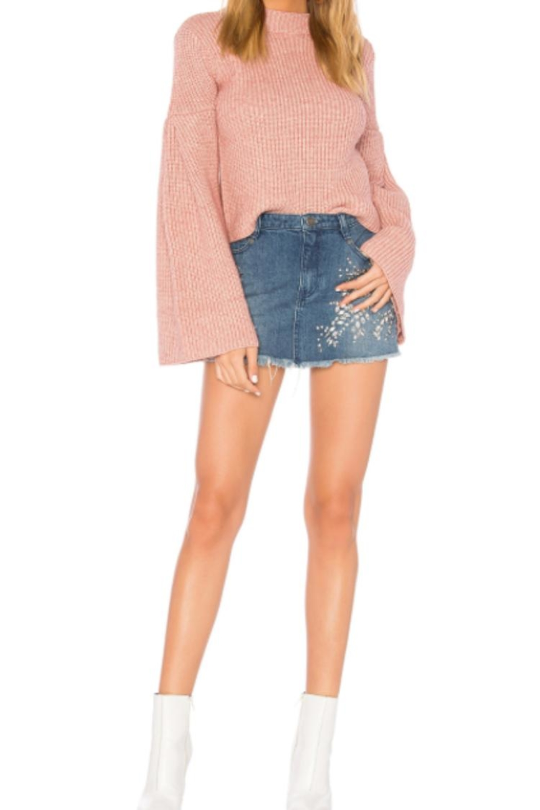 Endless Rose Bell Sleeve Sweater - Side Cropped Image