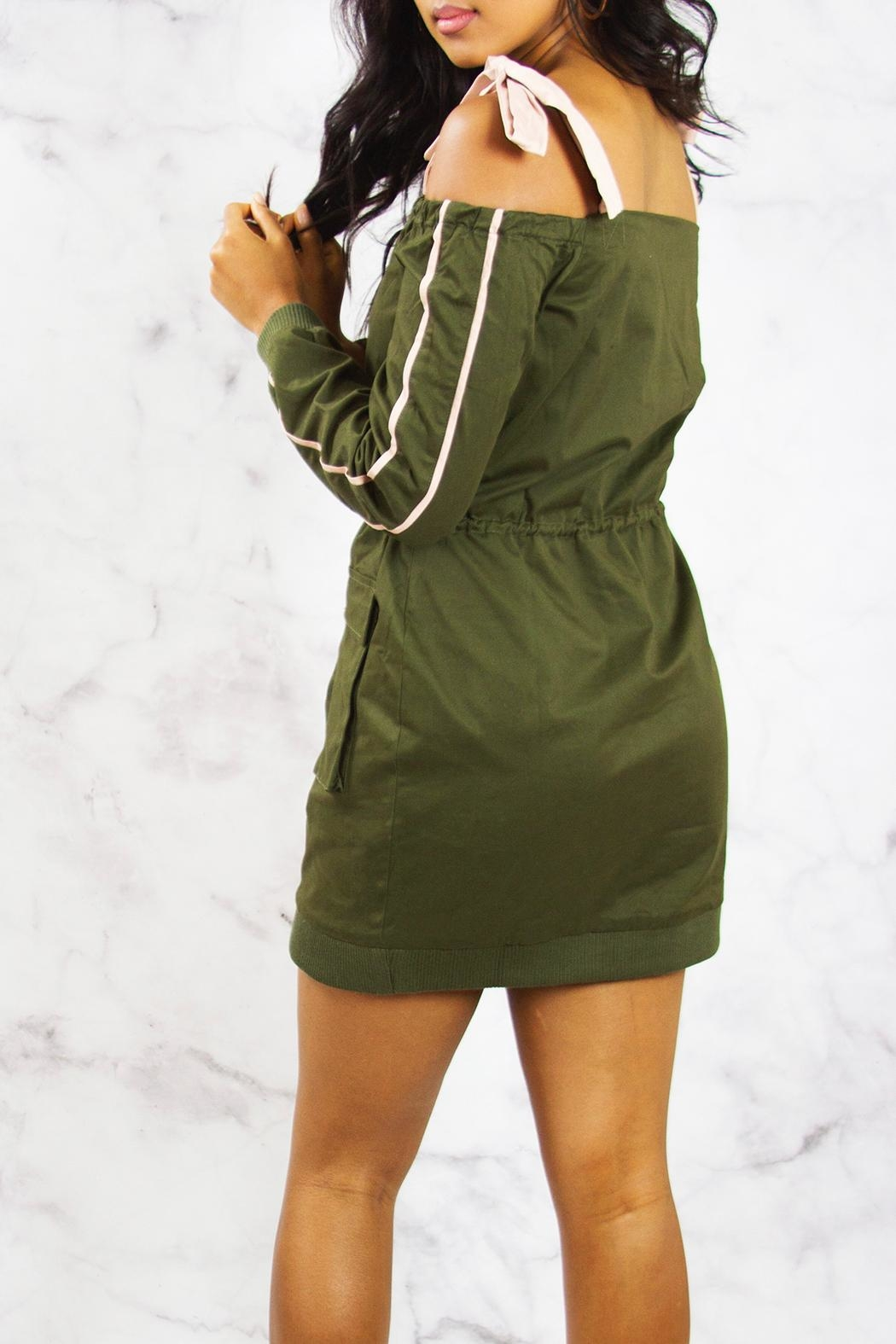 Endless Rose Cargo Jacket Dress - Side Cropped Image