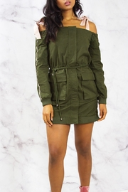 Endless Rose Cargo Jacket Dress - Front cropped