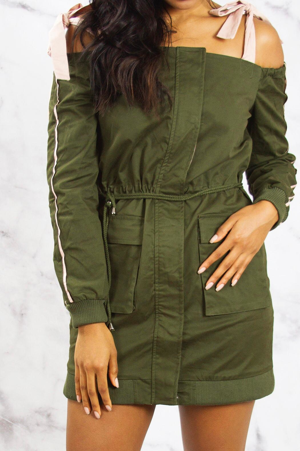 Endless Rose Cargo Jacket Dress - Back Cropped Image