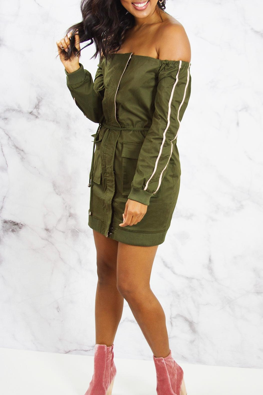 Endless Rose Cargo Jacket Dress - Front Full Image