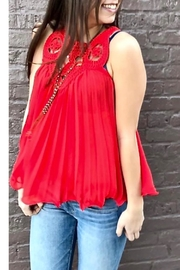 Endless Rose Chiffon Embroidered Top - Product Mini Image