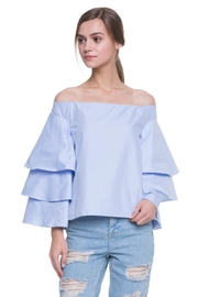Endless Rose Dusty Blue Top - Front cropped