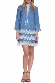 Endless Rose Embroidered Denim Dress - Product Mini Image