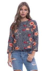 Endless Rose Embroidered Tweed Top - Product Mini Image