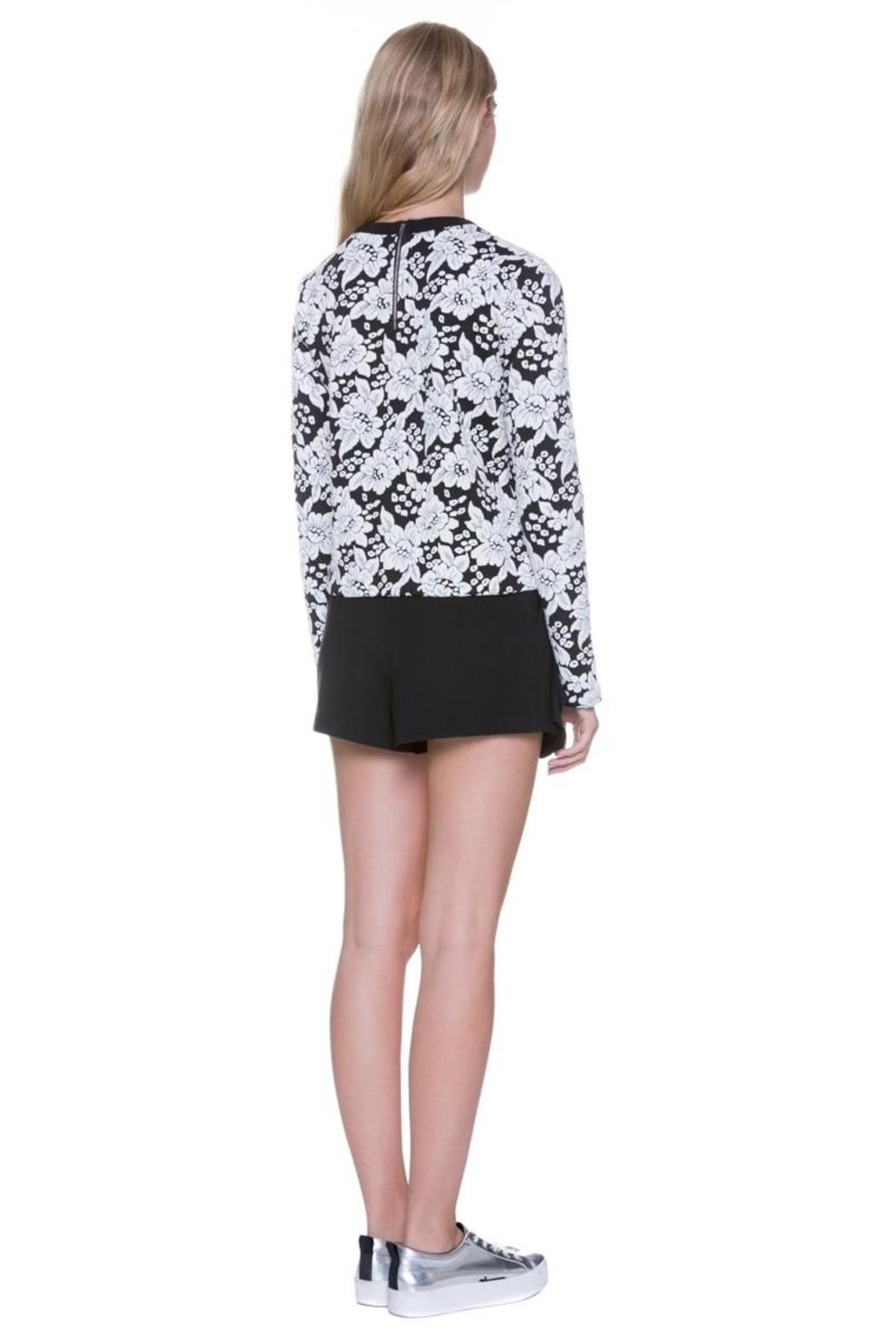 Endless Rose Floral Crew Neck Top - Back Cropped Image