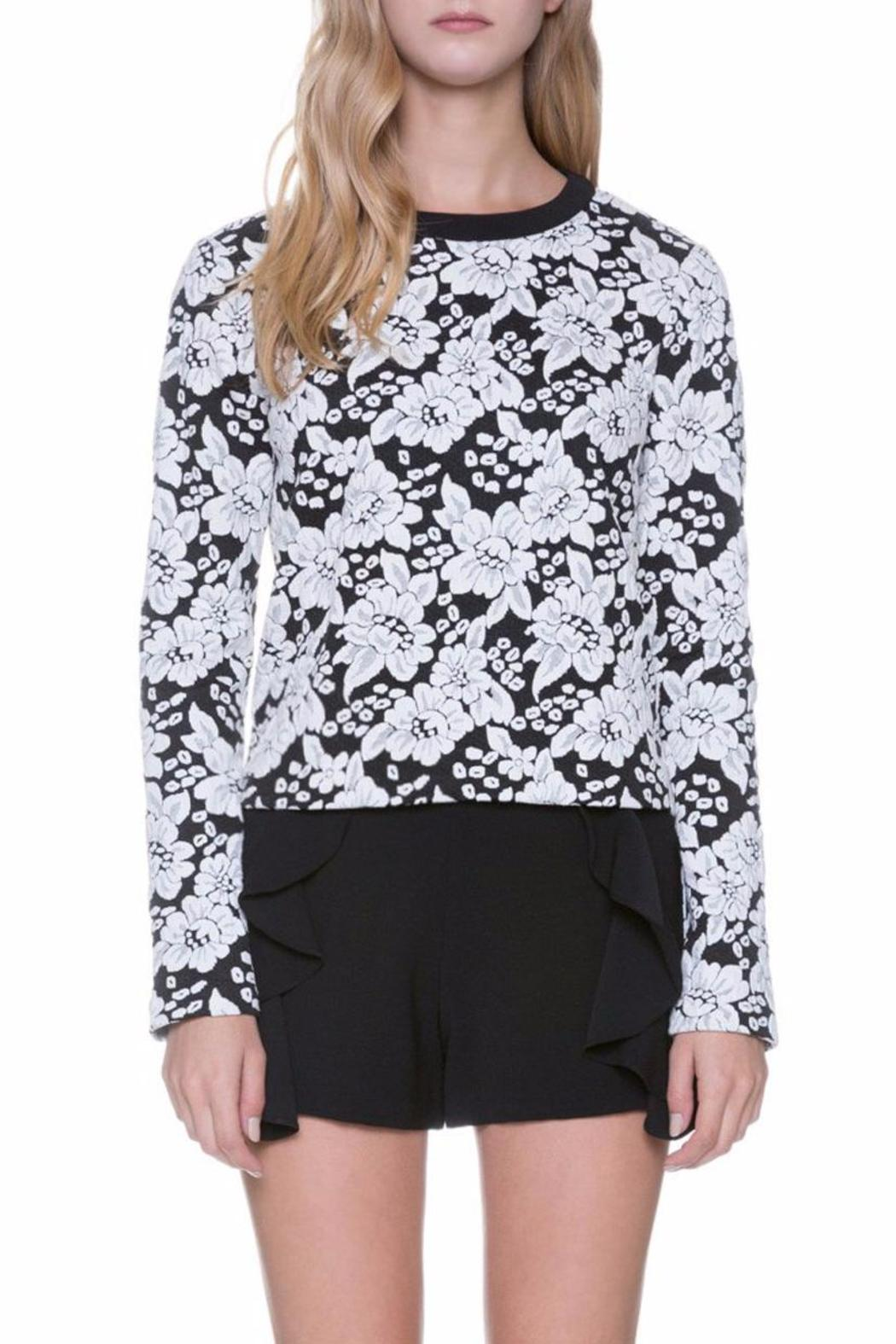 Endless Rose Floral Crew Neck Top - Side Cropped Image