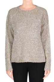 Endless Rose Gold Sparkly Sweater - Front cropped