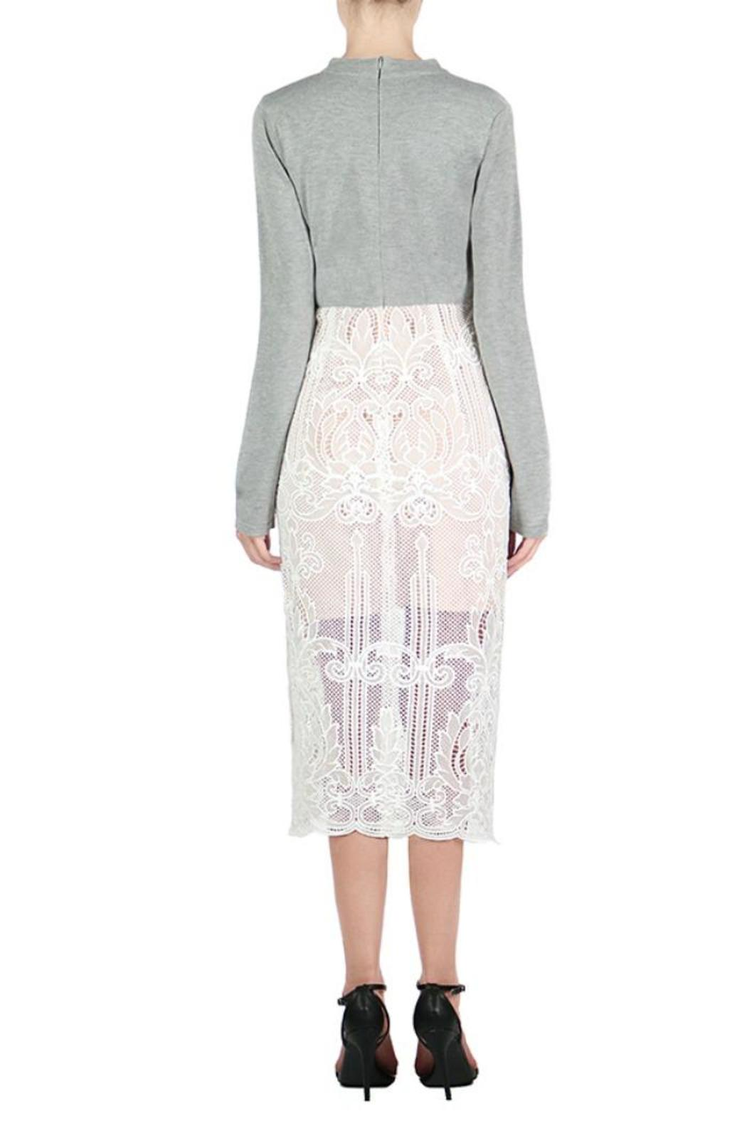 Endless Rose Grey Lace Dress - Front Full Image