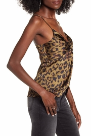 Endless Rose Leopard Twist-Front Top - Front full body