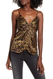 Endless Rose Leopard Twist-Front Top - Front cropped