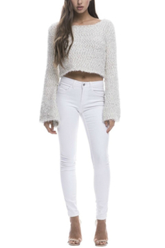 Endless Rose Metallic Cropped Sweater - Product List Image
