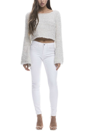 Endless Rose Metallic Cropped Sweater - Product Mini Image