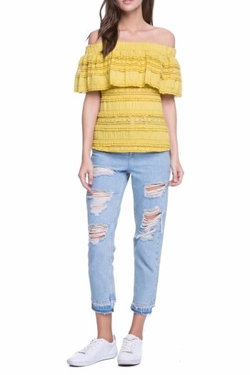Endless Rose Off The Shoulder Yellow Top - Main Image