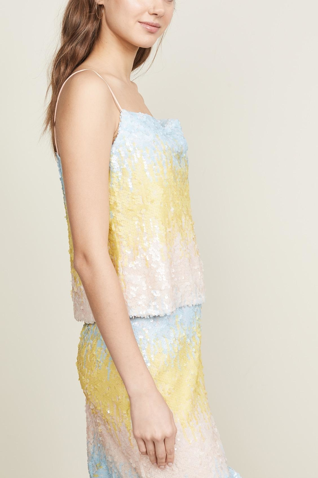 Endless Rose Ombre Sequin Cami - Side Cropped Image