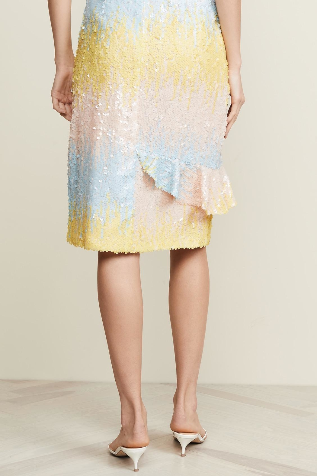 Endless Rose Ombre Sequin Skirt - Side Cropped Image