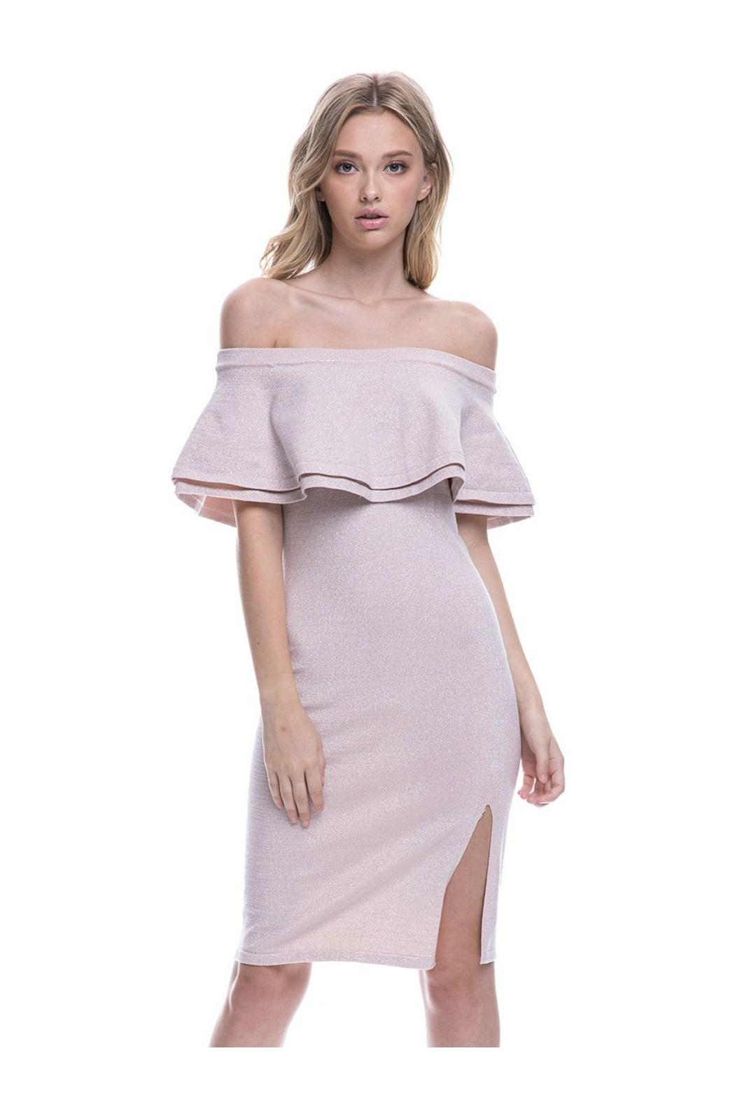 Endless Rose Ots Cocktail Dress - Back Cropped Image