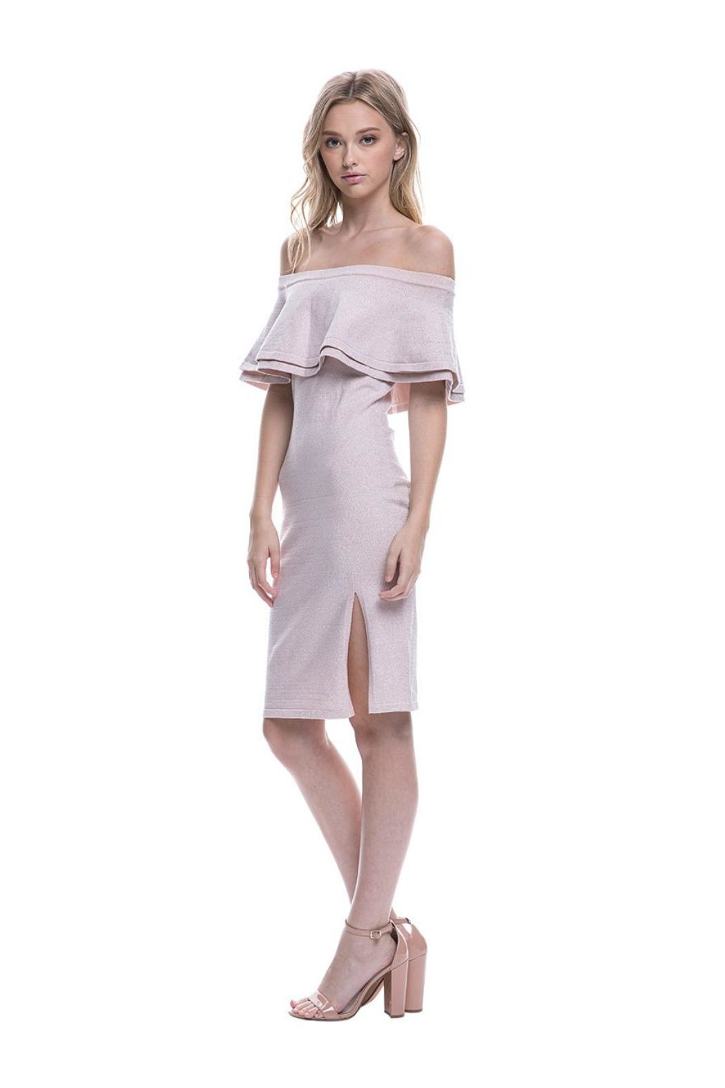 Endless Rose Ots Cocktail Dress - Side Cropped Image