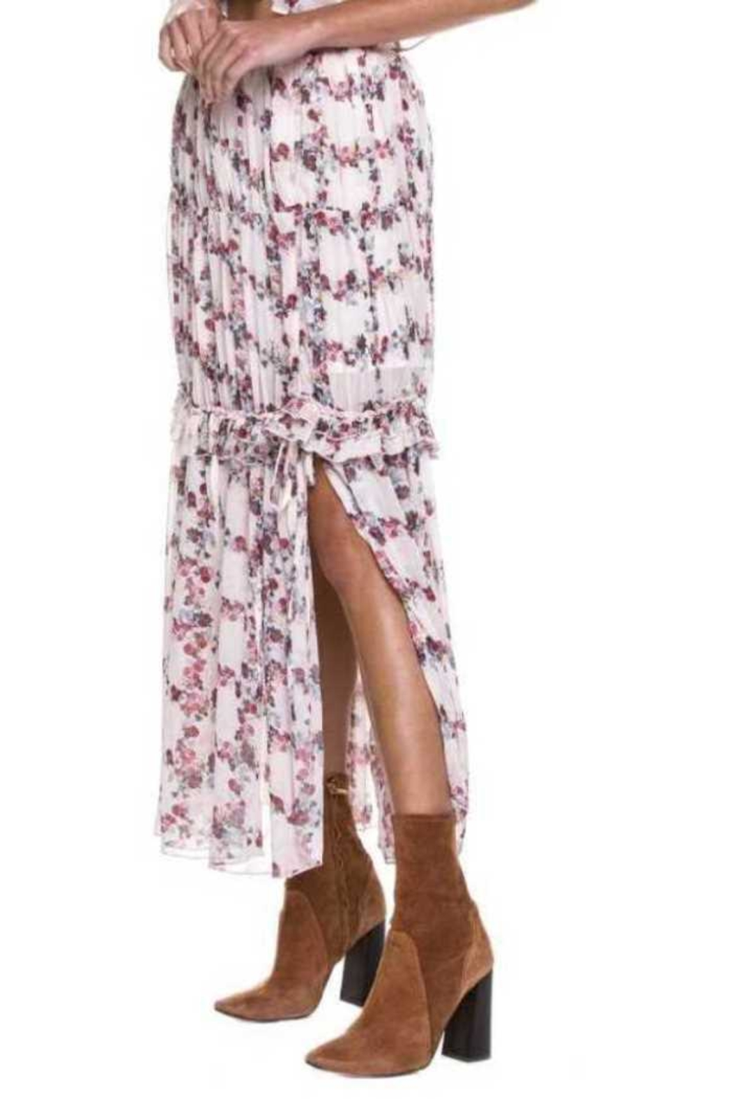 Endless Rose Ruffle Maxi Skirt - Front Full Image